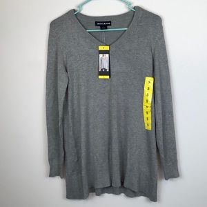 😻DKNY JEANS WOMEN GRAY LONG SLEEVES PULLOVER